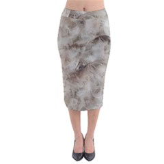 Down Comforter Feathers Goose Duck Feather Photography Midi Pencil Skirt