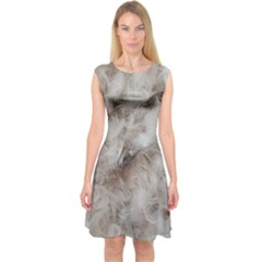 Down Comforter Feathers Goose Duck Feather Photography Capsleeve Midi Dress
