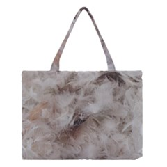 Down Comforter Feathers Goose Duck Feather Photography Medium Tote Bag