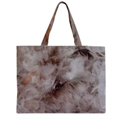Down Comforter Feathers Goose Duck Feather Photography Medium Zipper Tote Bag