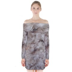 Down Comforter Feathers Goose Duck Feather Photography Long Sleeve Off Shoulder Dress