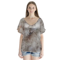 Down Comforter Feathers Goose Duck Feather Photography Flutter Sleeve Top