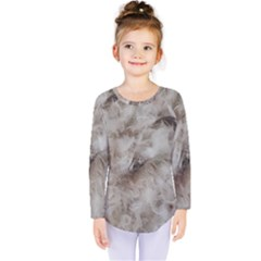 Down Comforter Feathers Goose Duck Feather Photography Kids  Long Sleeve Tee