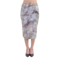 Down Comforter Feathers Goose Duck Feather Photography Velvet Midi Pencil Skirt