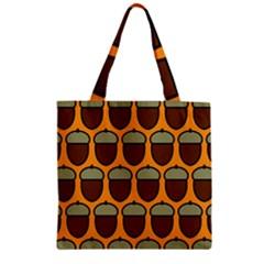 Acorn Orang Zipper Grocery Tote Bag