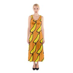 Banana Orange Sleeveless Maxi Dress