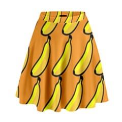 Banana Orange High Waist Skirt