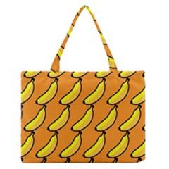 Banana Orange Medium Zipper Tote Bag