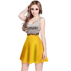 Beer Foam Yellow Reversible Sleeveless Dress