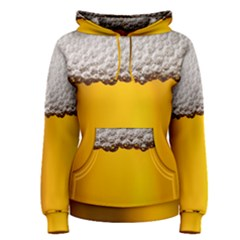 Beer Foam Yellow Women s Pullover Hoodie