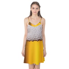 Beer Foam Yellow Camis Nightgown