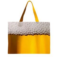 Beer Foam Yellow Large Tote Bag