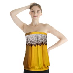 Beer Foam Yellow Strapless Top