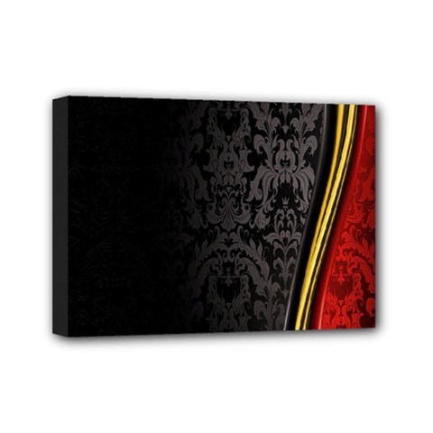 Black Red Yellow Mini Canvas 7  x 5