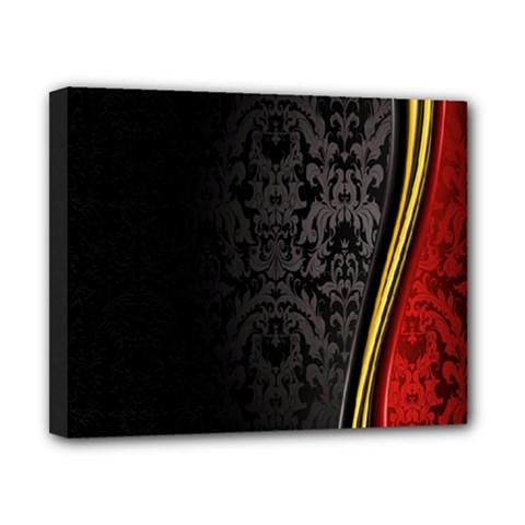 Black Red Yellow Canvas 10  x 8