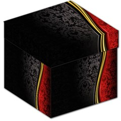 Black Red Yellow Storage Stool 12