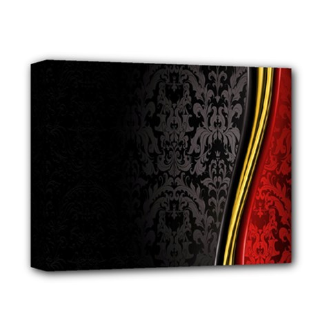 Black Red Yellow Deluxe Canvas 14  x 11