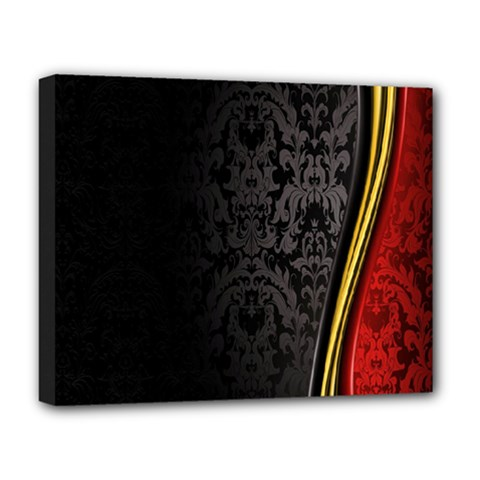 Black Red Yellow Deluxe Canvas 20  x 16