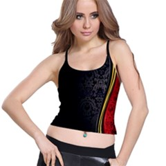 Black Red Yellow Spaghetti Strap Bra Top