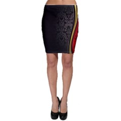 Black Red Yellow Bodycon Skirt