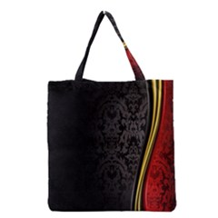 Black Red Yellow Grocery Tote Bag