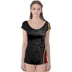 Black Red Yellow Boyleg Leotard