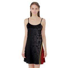 Black Red Yellow Satin Night Slip