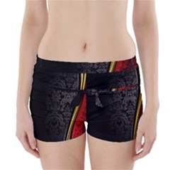 Black Red Yellow Boyleg Bikini Wrap Bottoms