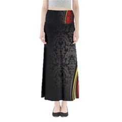 Black Red Yellow Maxi Skirts