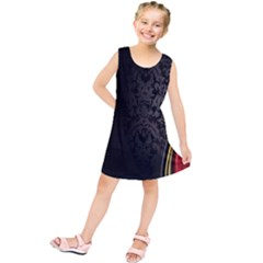 Black Red Yellow Kids  Tunic Dress
