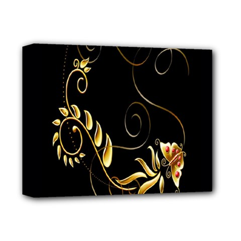 Butterfly Black Golden Deluxe Canvas 14  x 11