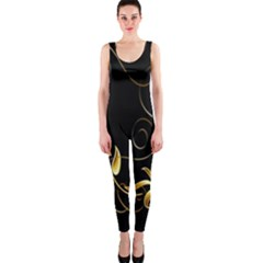 Butterfly Black Golden OnePiece Catsuit