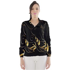 Butterfly Black Golden Wind Breaker (Women)