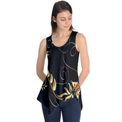 Butterfly Black Golden Sleeveless Tunic