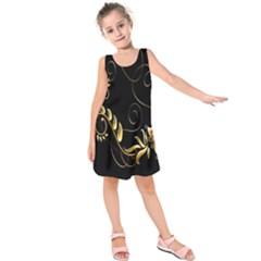 Butterfly Black Golden Kids  Sleeveless Dress