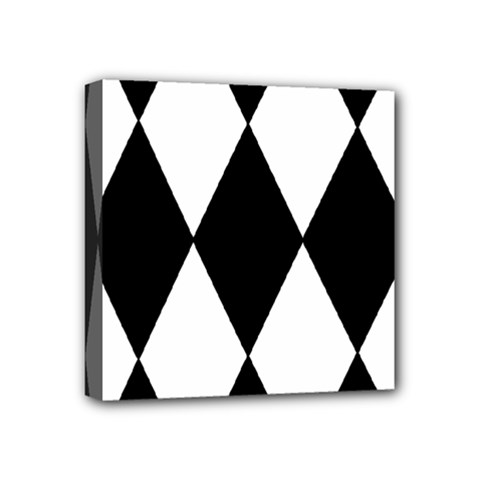Chevron Black Copy Mini Canvas 4  x 4