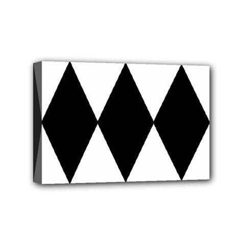 Chevron Black Copy Mini Canvas 6  x 4