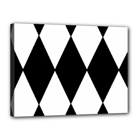 Chevron Black Copy Canvas 16  x 12