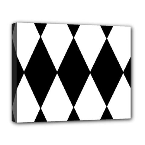 Chevron Black Copy Deluxe Canvas 20  x 16