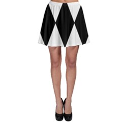 Chevron Black Copy Skater Skirt