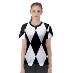Chevron Black Copy Women s Sport Mesh Tee
