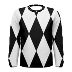 Chevron Black Copy Men s Long Sleeve Tee