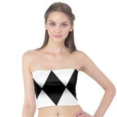 Chevron Black Copy Tube Top