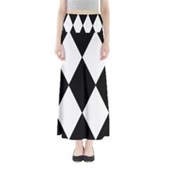 Chevron Black Copy Maxi Skirts