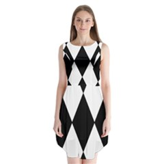Chevron Black Copy Sleeveless Chiffon Dress