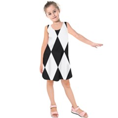 Chevron Black Copy Kids  Sleeveless Dress