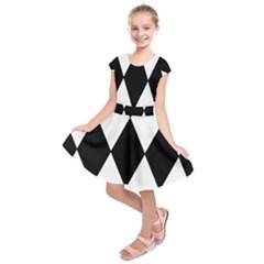 Chevron Black Copy Kids  Short Sleeve Dress