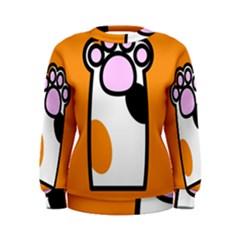 Cathand Orange Women s Sweatshirt