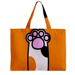 Cathand Orange Zipper Mini Tote Bag