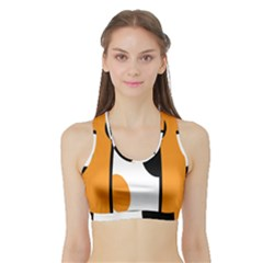Cathand Orange Sports Bra with Border